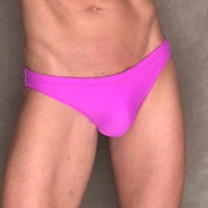 Mens Solid Muscle Swim Brief